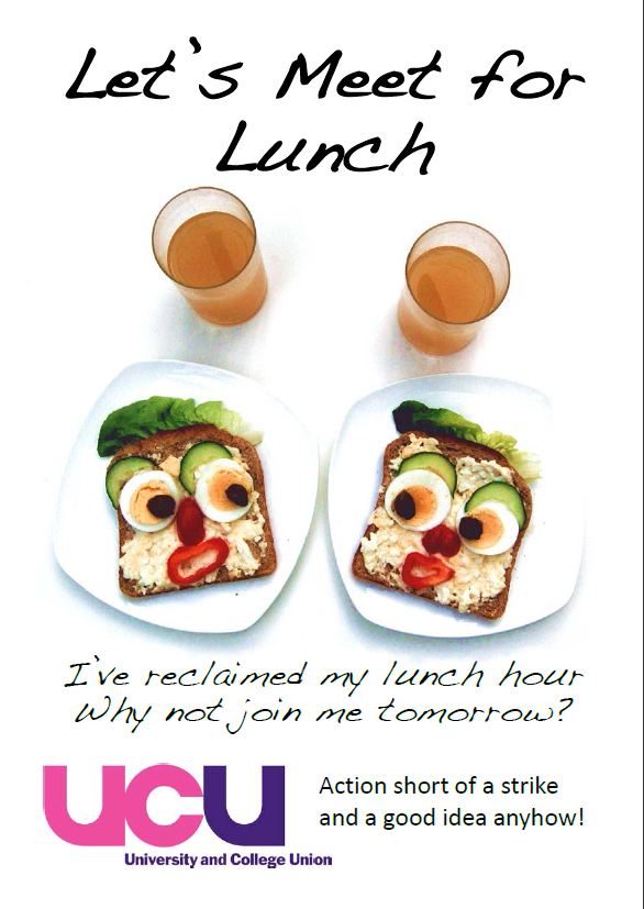 let s meet for lunch campaign flyer southampton ucu