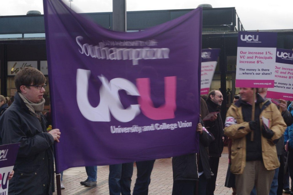 Southampton UCU gathering in the Piazza