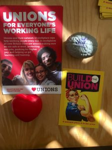 UCU leaflets and desk ornaments